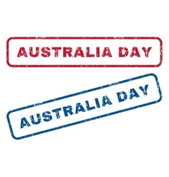 Australia day rubber stamps vector