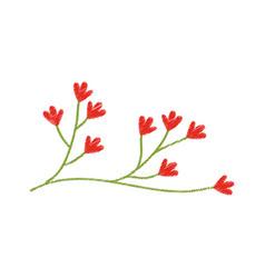 red flower ornate image sketch vector image