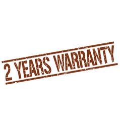 2 years warranty stamp vector
