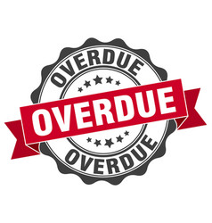 Overdue stamp sign seal vector