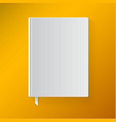 Blank book cover with a bookmark object for design vector
