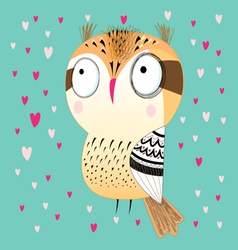 Funny graphic owl vector