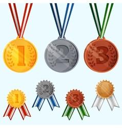 Award medals set vector image