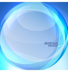 Blue transparent lens background vector image