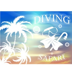 Travel and leisure diving vector