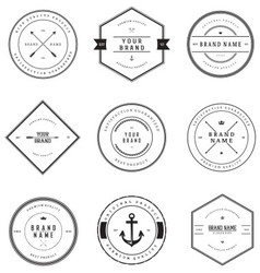 Vintage brand badges vector