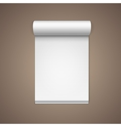 White blank paper note notebook page vector