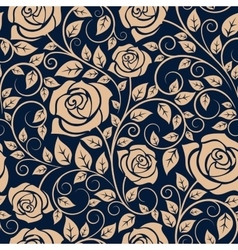 Blooming roses floral seamless pattern vector