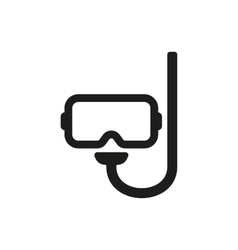 The scuba mask icon diving symbol flat vector