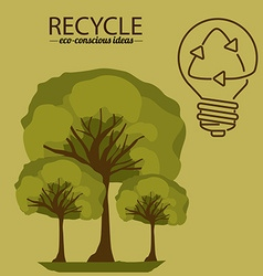 Eco bulb design vector
