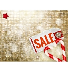 Christmas poster sale typography eps 10 vector