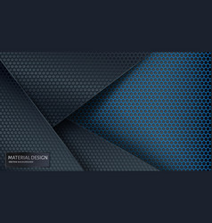 abstract background overlapping carbon grid vector image