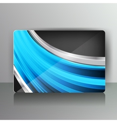 Abstract card with colored lines vector image vector image