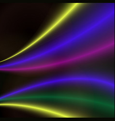 abstract colorful bright wave design vector image vector image