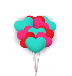 Balloon heart valentines background vector image