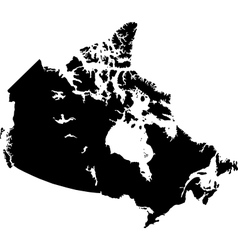 Black canada map vector