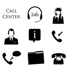 Call centre icons vector image