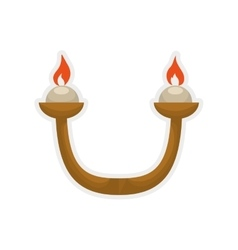 Candle icon Light design graphic vector image