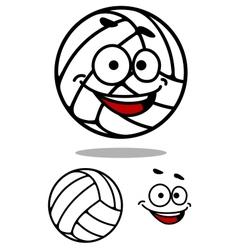 Cartoon cute volleyball ball vector image vector image