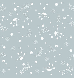 Christmas brier spray pattern vector