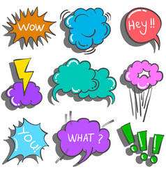 Collection stock of text balloon vector