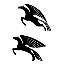 Fantasy winged horses vector