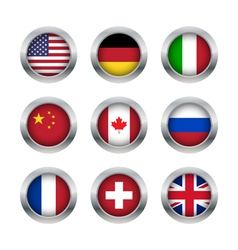 Flag buttons set 1 vector image vector image