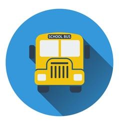 Flat design icon of School bus in ui colors vector image vector image