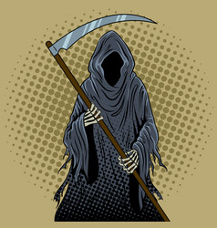 grim reaper pop art vector image
