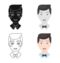 Groom man icon of for web and vector