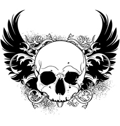 human skull decorative vector image vector image