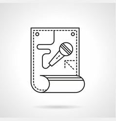 karaoke poster flat line icon vector image vector image