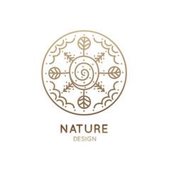 Logo round landscape vector