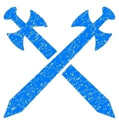 Medieval Swords Grainy Texture Icon vector image vector image