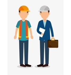 Men worker construction helmet icon graphic vector