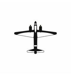 Military fighter jet icon simple style vector