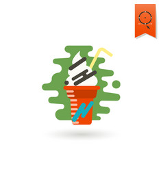milk shake modern flat icon vector image