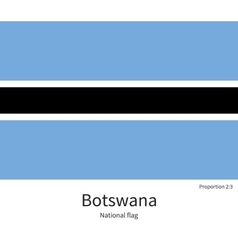 National flag of botswana with correct proportions vector