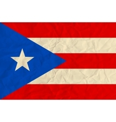Puerto-Rico paper flag vector image