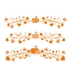 Pumkin borders vector