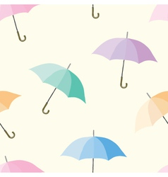 Seamless of colorful umbrellas vector image