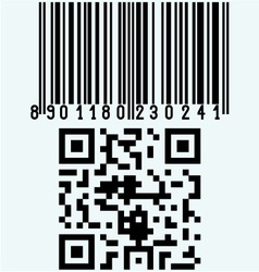 Set barcodes vector image