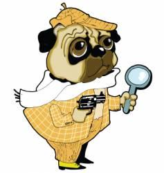 sherlock holmes dog vector image vector image