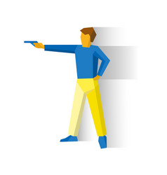 shooter aiming a pistol man with a gun vector image