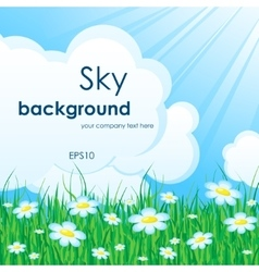Sky nature background vector image vector image