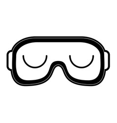 Sleeping mask or blindfold closed eyes sleep vector