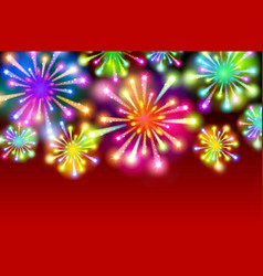 starry fireworks background with place for text vector image vector image