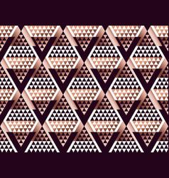 Tribal traditional repeatable motif in art deco vector