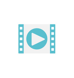 video marketing flat icon vector image