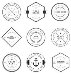 Vintage Brand Badges vector image vector image